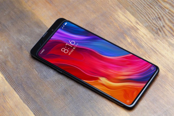 A teaser render of the Xiaomi Mi Mix 3.