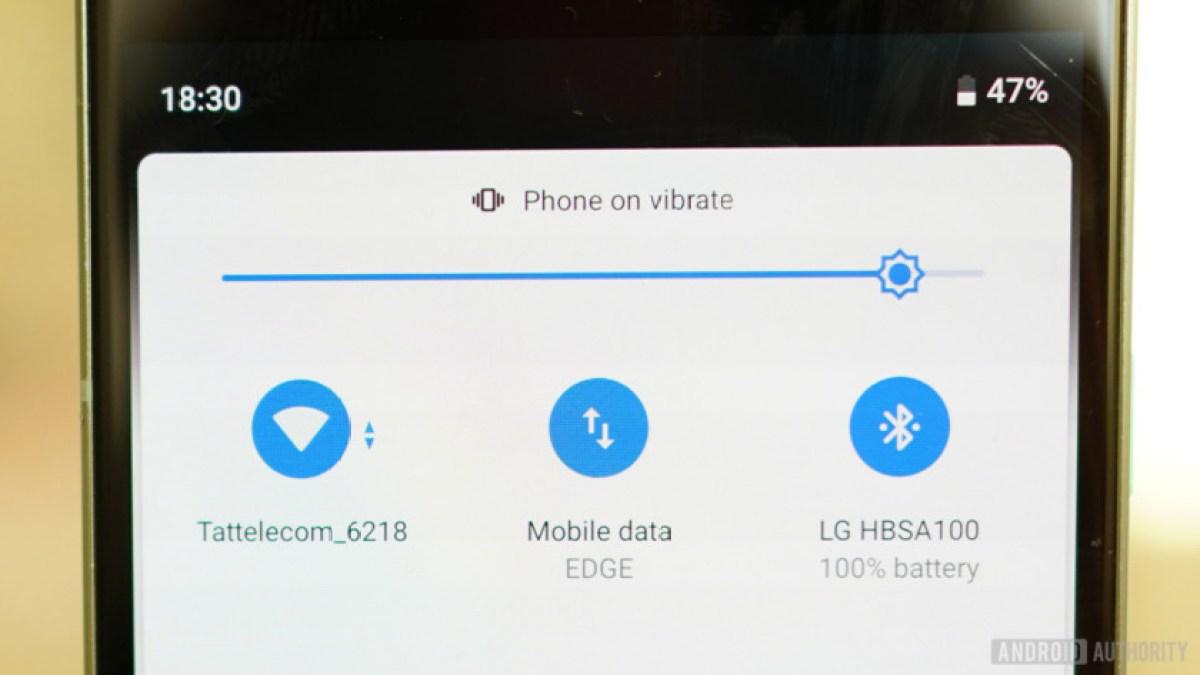 Обзор Android 9 Pie Быстрые настройки Wi-Fi, Bluetooth, сотовая связь, вибрация