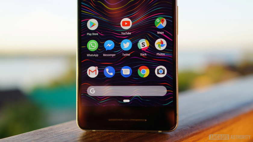 Android 9 Pie review app dock navigation button