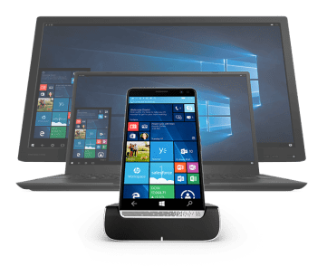 HP Elite x3 smartphone dock as desktop PC phone hybrid