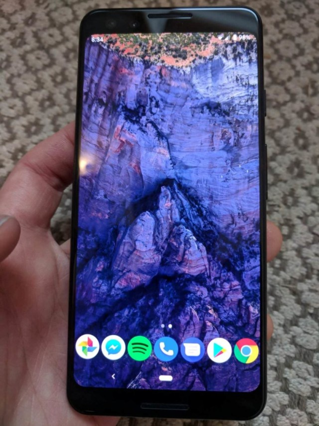 A leaked image allegedly of the Google Pixel 3.
