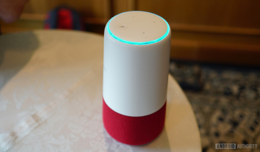 Huawei AI Cube speaker with red base