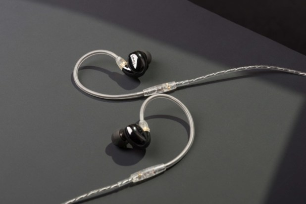 RHA CL2 Planar wireless planar magnetic earphones with MMCX cable attached.