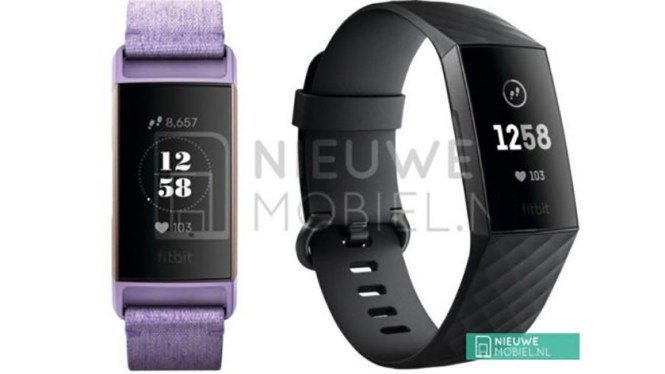 Leaked images reportedly of the Fitbit Charge 3.