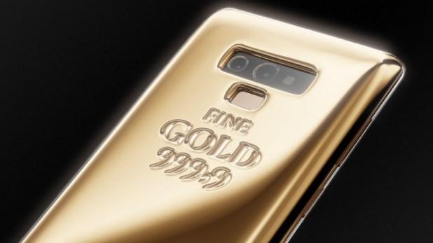 Samsung Galaxy Note 9 Fine Gold Edition.
