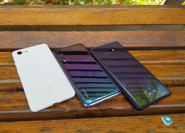 Google Pixel 3 XL prototype vs Huawei P20 Pro vs Samsung Galaxy Note 9