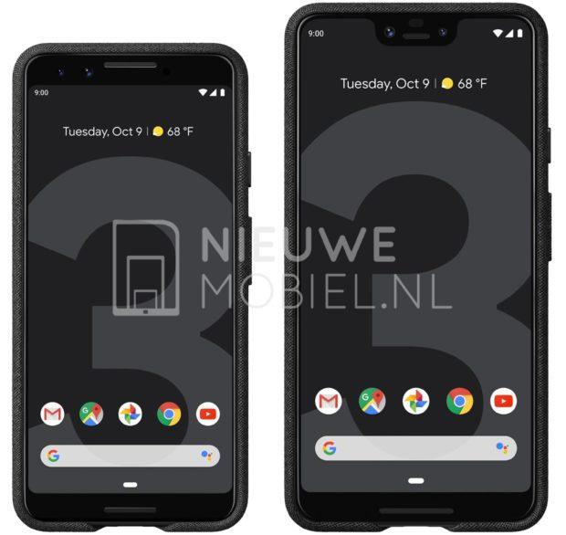 Google Pixel 3 and Pixel 3 XL render leaks