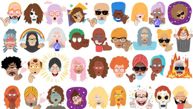 Google Mini Selfie Stickers