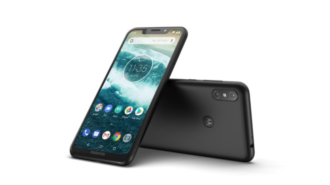 A look at the Motorola One Power from a couple of angles.