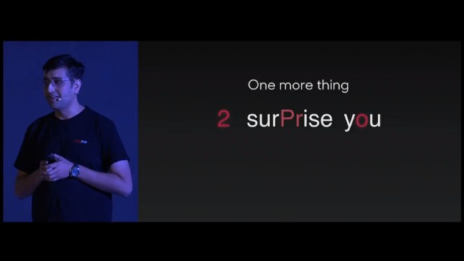 A tease at the Realme 2 event.