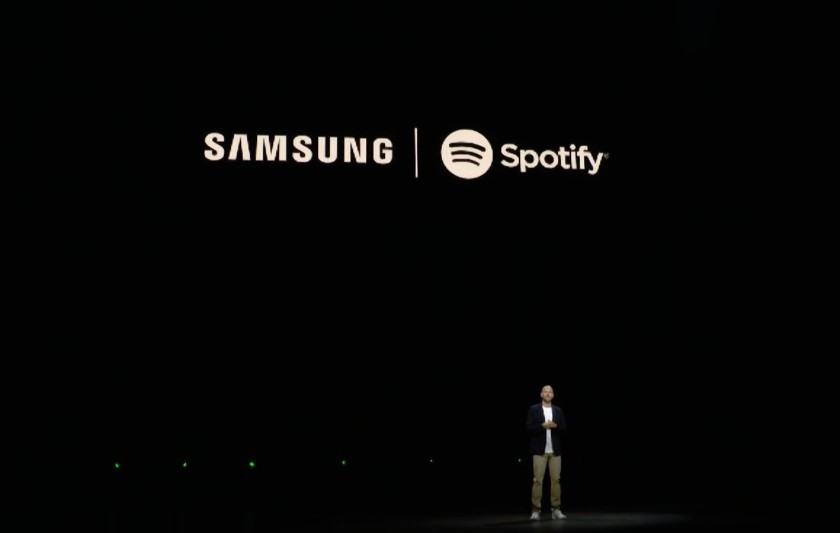 Samsung and Spotify announced a partnership this week.