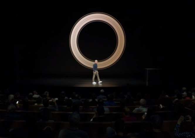 Apple CEO Tim Cook at the Apple Event 2018.