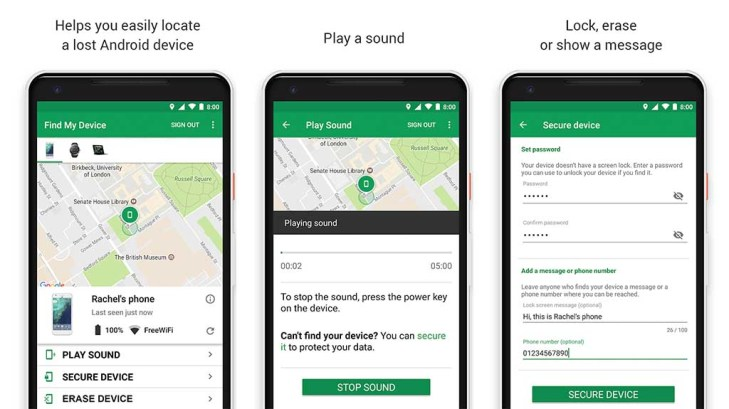Find my Device is one of the best find my phone apps for android