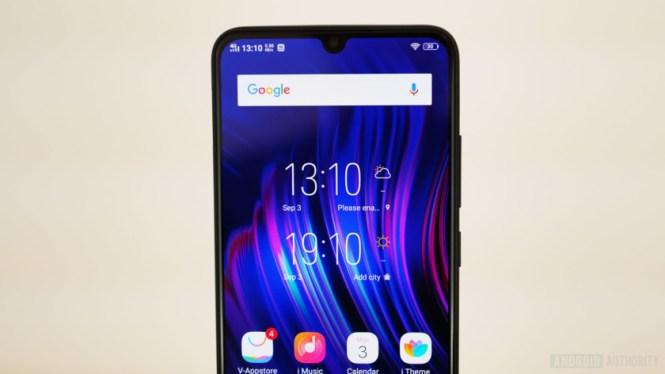 Vivo V11 review - home screen widget top bezel