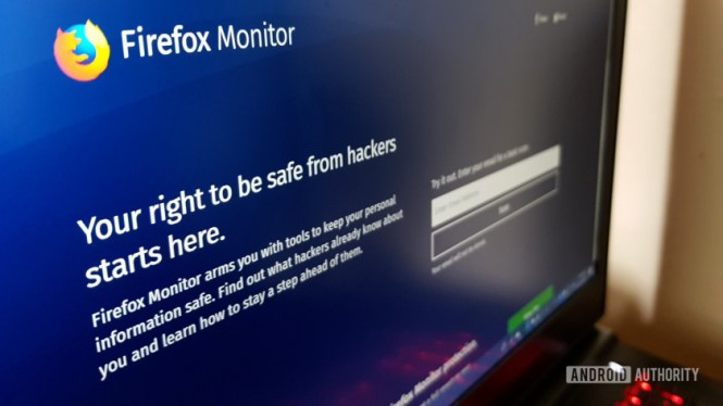 The Firefox Monitor website.