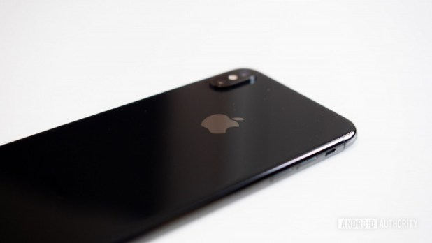 The back of the Apple iPhone XS Max.
