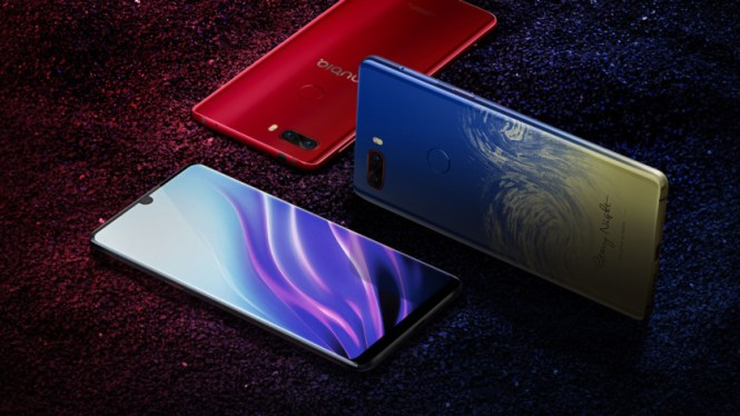 The Nubia Z18, including the Starry Night option.