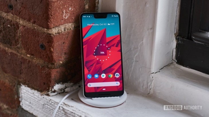 Google Pixel 3 on Pixel Stand