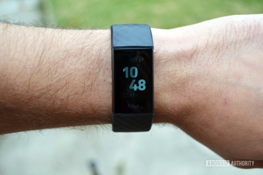 fitbit charge 3 black band display