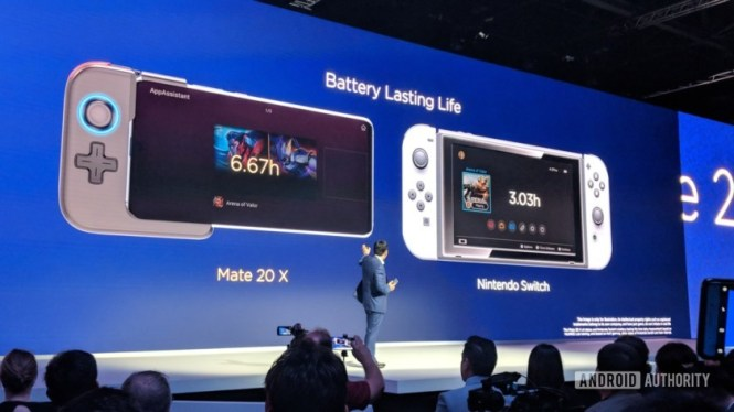 Huawei Mate 20 X launch vs Nintendo Switch