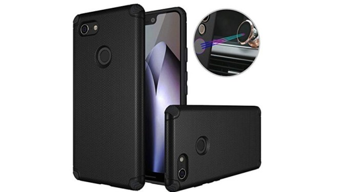 dretal pixel 3 xl case with built-in plate for magnetic car holder