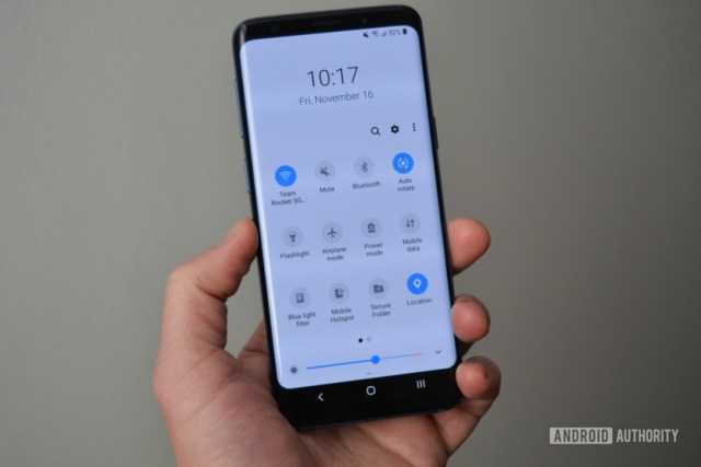 samsung galaxy s9 one ui review quick settings