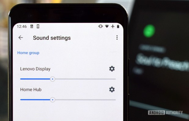 Smart Home Multi Room audio settings menu