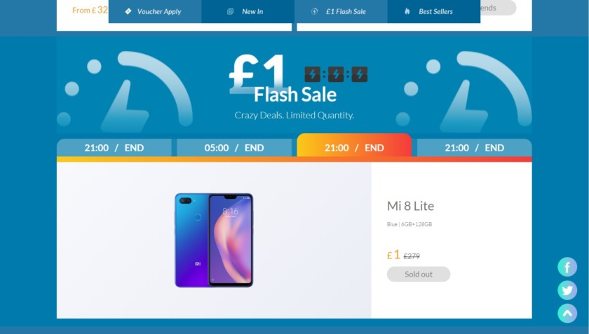 Xiaomi flash sale