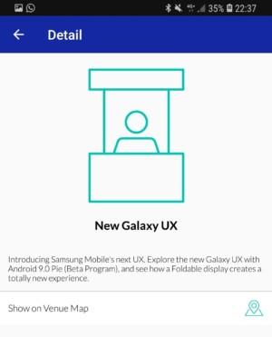 Samsung Developers conference app screenshot.