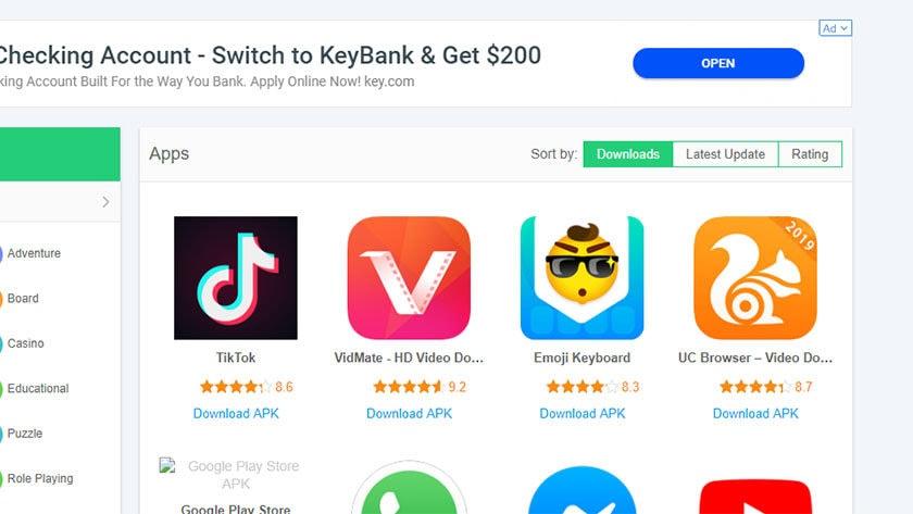 APKPure - las mejores tiendas de aplicaciones de terceros