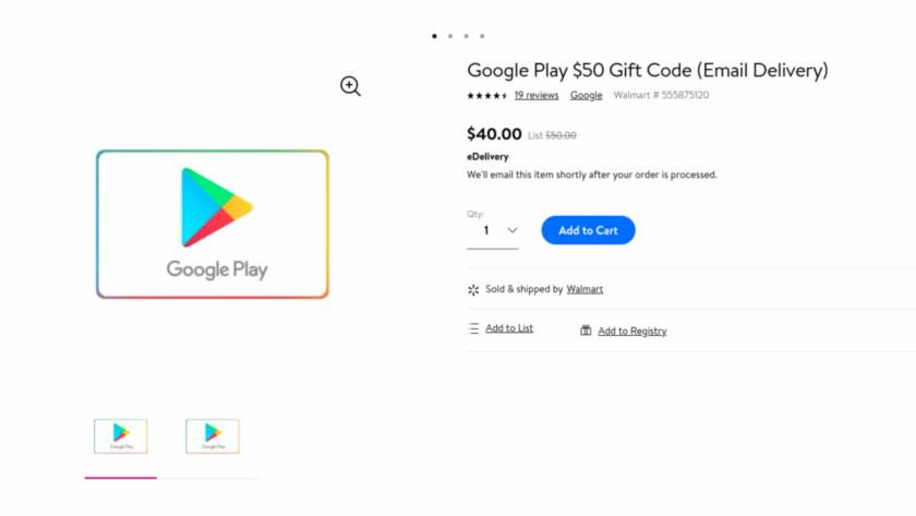 Google Play Store digital code