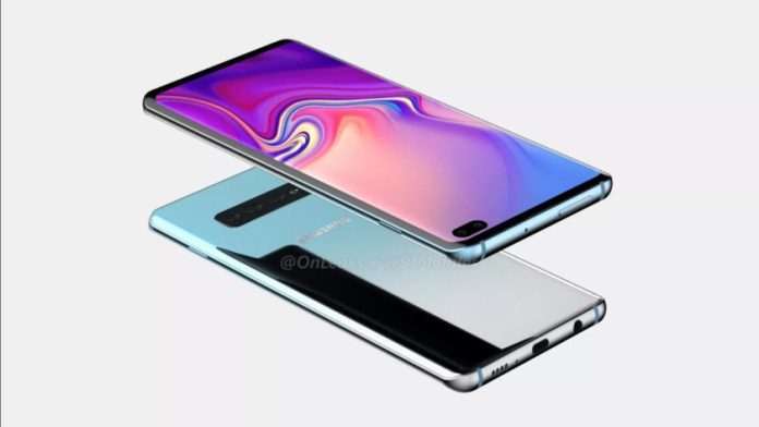 The Galaxy S10 Plus render by 91Mobiles.