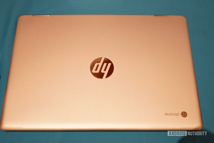 HP Chromebook x360 14 G1 closed overview at CES 2019