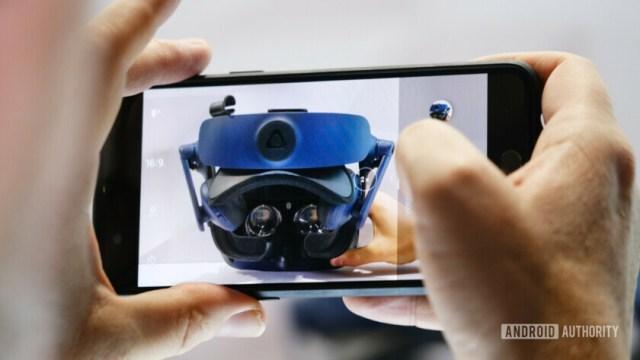 HTC Vive Pro Eye through smartphone