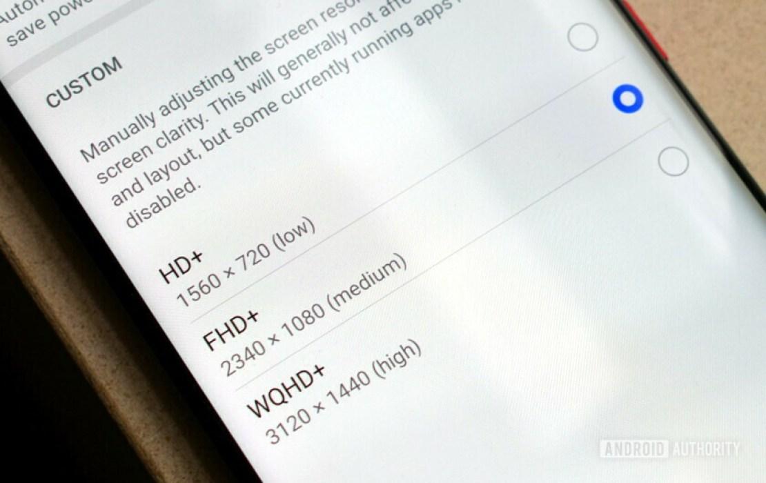 Huawei EMUI Display Resolution Settings
