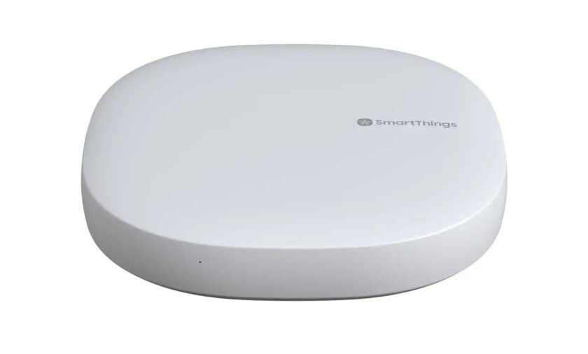 Samsung's SmartThings hub version 3 Alexa smart home device.