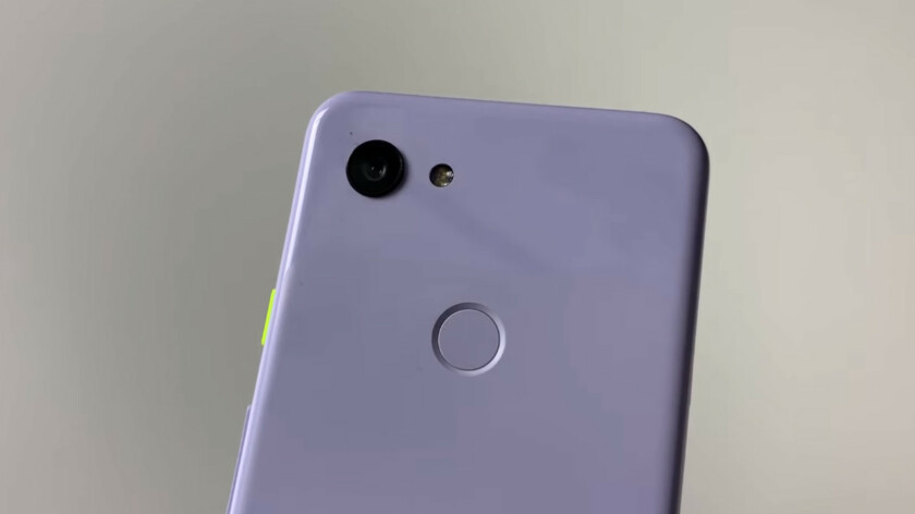 The back of the Google Pixel 3 Lite.