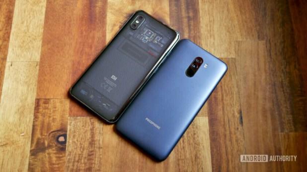 Xiaomi Mi 8 Pro vs Pocophone F1 design