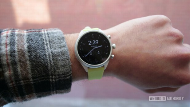 fossil sport smartwatch wear os watch face oled screen display