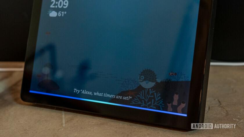 Amazon Echo Show 2 display with Alexa activated