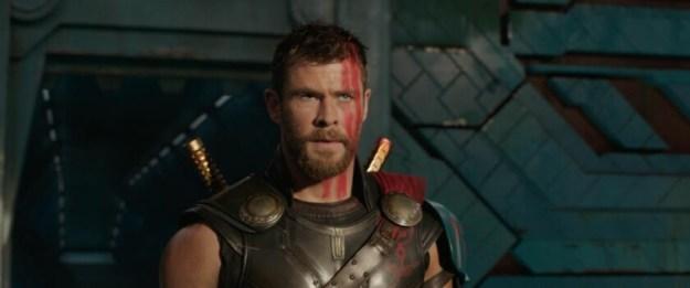 Screencap of the main character in Thor: Ragnarok