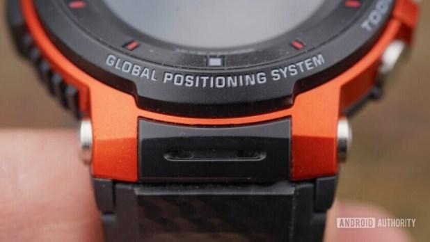 Casio Pro Trek WSD-F30 microphones