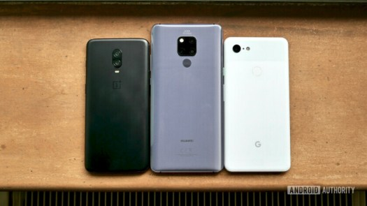 Huawei Mate 20 X vs OnePlust 6T vs Google Pixel 3 XL