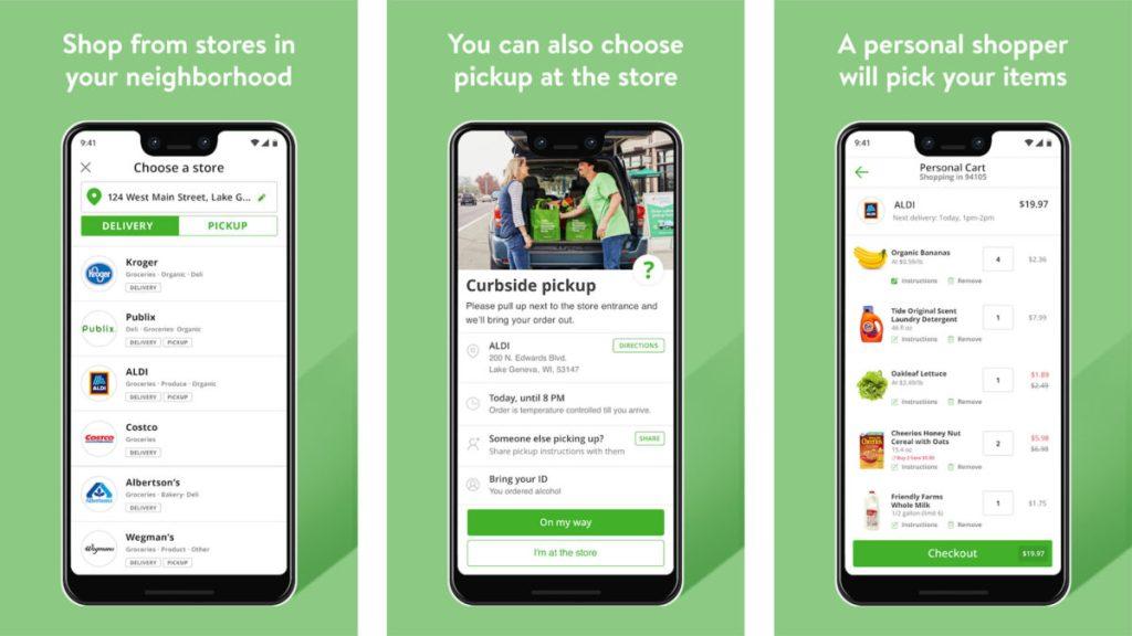 Скриншот Instacart 2019 - лучшие приложения для покупок