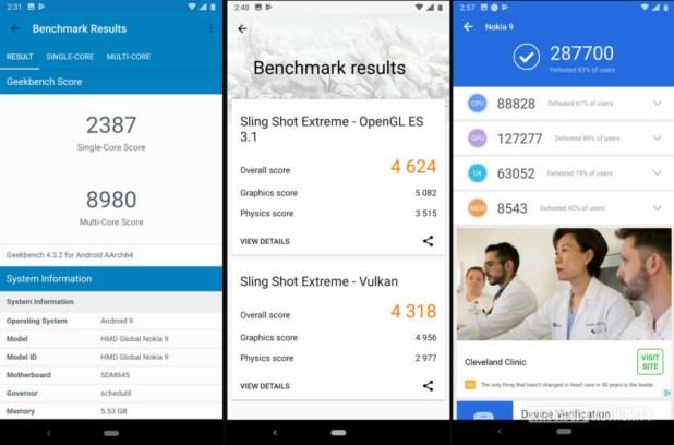 Nokia 9 PureView Benchmark