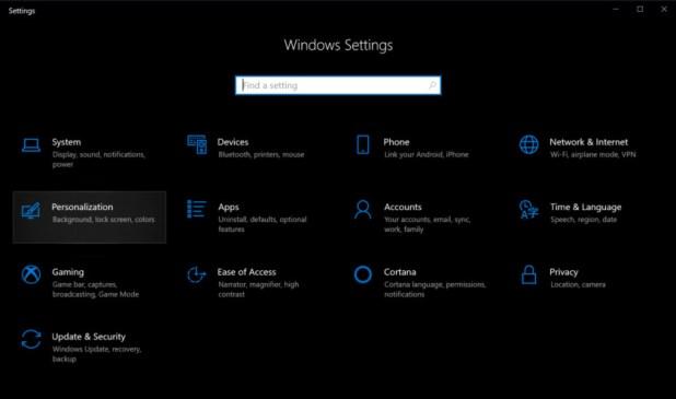 Windows 10 Settings Menu - How to enable dark mode in Windows 10