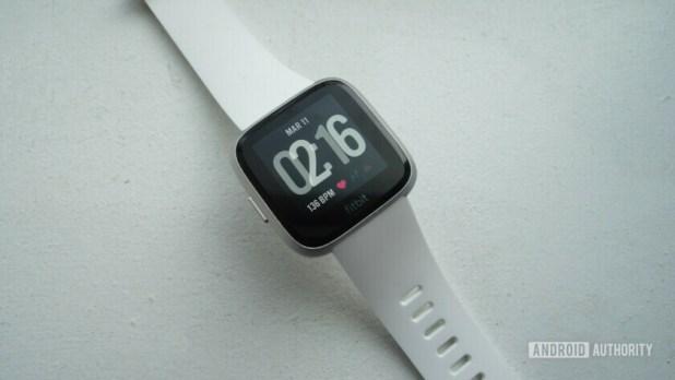 fitbit versa lite smartwatch clock face