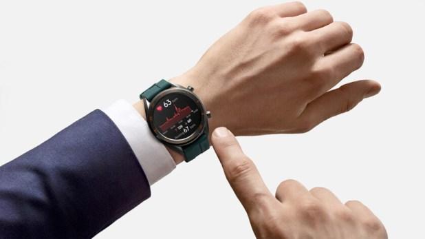 huawei watch gt 46mm active smartwatch on wrist