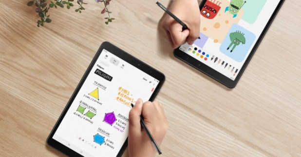 The Samsung Galaxy Tab A 2019 with S-Pen.