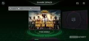 Black Shark 2 Review Shark Space with performance dashboard